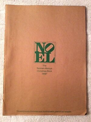 Vintage 1968 The Neiman Marcus Christmas Book NOEL With Brown Mailing Cover