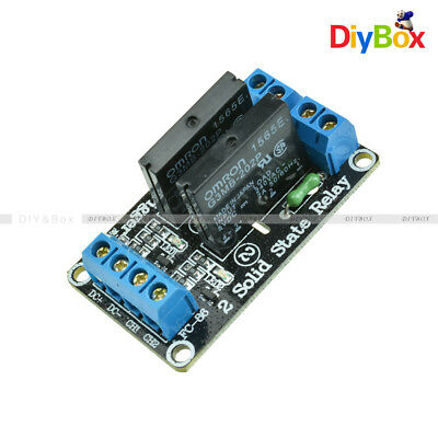 5V 2 Channel OMRON SSR G3MB-202P Solid State Relay Module with Resistive Fuse D