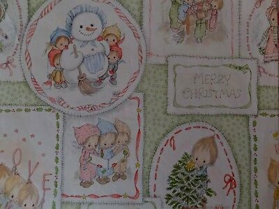 Vintage Betsey Clark Merry Christmas Hallmark Gift Wrap Wrapping Paper