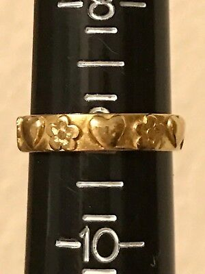 James Avery 14k Hearts and Flowers Ring Band Retired James Avery 14k Ring sz 9