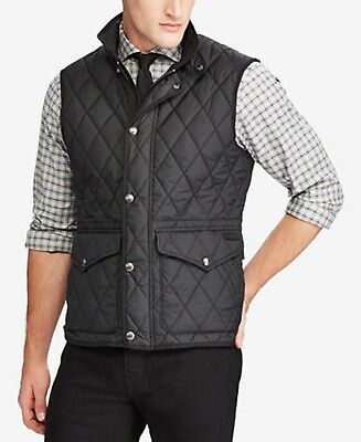 (NEW) Polo Ralph Lauren Men's Iconic Quilted Vest Large Black MSRP $198.50