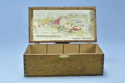 Antique GRISWOLD SEED CO COUNTRY STORE COUNTER DISPLAY BOX LINCOLN NEBRASKA 4759
