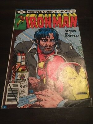 Iron Man #128 Demon In A Bottle Marvel Comics Fn