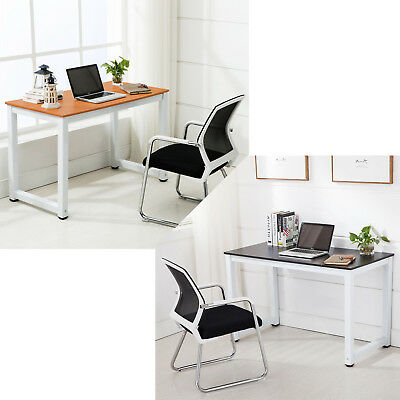 New Wooden Computer Desk PC Laptop Table Workstation Home Study Office Black -US
