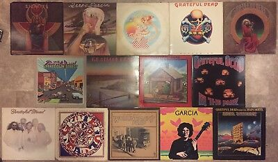 Grateful Dead, Jerry Garcia & Kingfish 14 Vinyl Record Album lot
