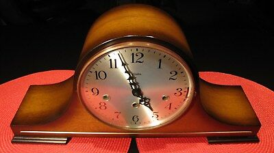 Stunning Linden German Triple Chime Pendulum 8-Day Key Wind Mantle Clock Works !