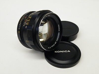 Konica Hexanon AR 57mm f1.4 with caps beautiful lens