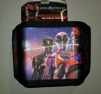 Power Rangers Tri-Fold Wallet with Zippered Pocket Flawed New