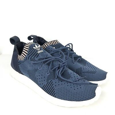 the best attitude 7dffe fd442 Adidas ZX Flux Adv Virtue Pk Primeknit Blue Womens Size 9.5