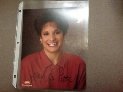 Signed Mary Lou Retton 8x10 Color Photo, Olymic Gold Medalist