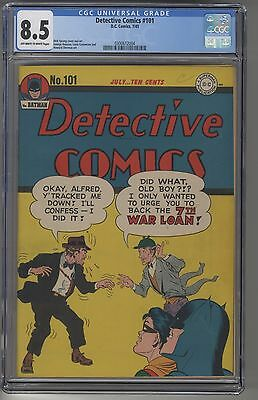 DETECTIVE COMICS#101 CGC 8.5 OWW Pages DC Golden Age BATMAN Only 2 Graded Higher