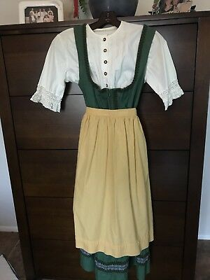 Vintage Austrian/German Dirndl Dress Oktoberfest Beer Costume Bavarian