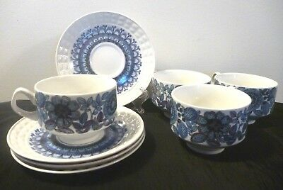 4 Pontessa cup and saucers (Spain)