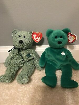"RETIRED ""ERIN"" and ""SHAMROCK"" BEANIE BABIES"