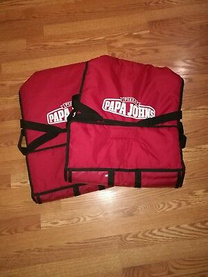 Papa Johns Pizza Insulated Hot Pizza Delivery Large Bag Red Carrying Case