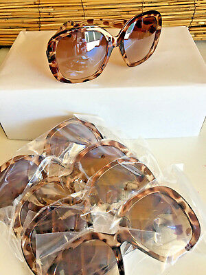 Lot of 5 TINTED LENSE OVERSIZE sunnies.LEOPARD PRINT. WHOLESALE.GOOD SELLERS.New