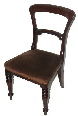 Victorian Carved Mahogany Balloon Back Chair - FREE Shipping [PL4210]