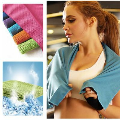 Comfortable Outdoor Instant Ice Cooling Towel For Jogging Golf Fitness BY #U