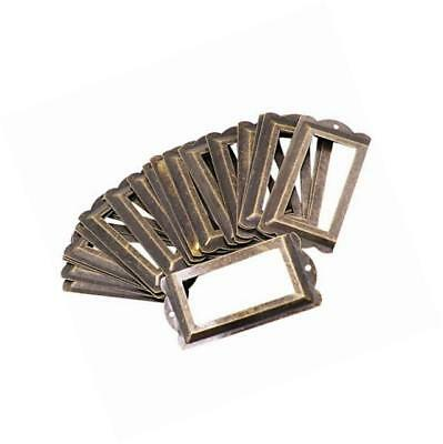 30pcs brozen tone office library file drawer tag vintage style label holder (85