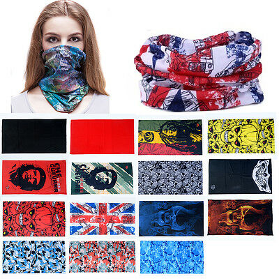 Unisex Men Skull Head Face Mask Wear Tube Bandana Durag Biker Motorcycle Scarf