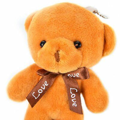 Cute Soft Plush Little Bear Doll Keychain Keyring Stuffed Animal Gifts