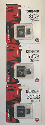 Original Kingston 8GB 16GB 32GB Micro SD Karte Card, SpeicerKarte  Class4 C4-OVP