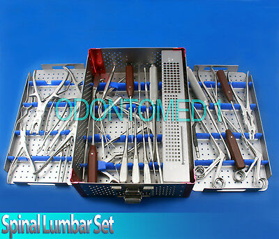 38 Pieces Surgical Orthopedic Spinal Posterior Lumbar Tray Set