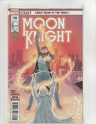 Moon Knight #190 NM- 9.2 Marvel Comcis Legacy Crazy Runs in the Family