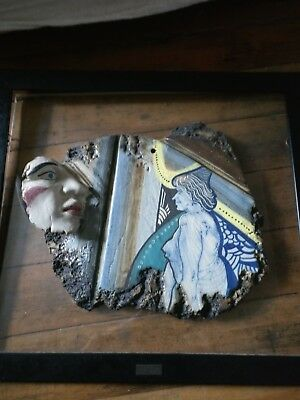 Framed sculpture by popular French artist  L  Caumont