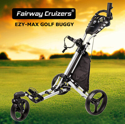 NEW EZY-MAX GOLF BUGGY - 3 Wheel, Compact Design, 360 Swivel Wheel & More!