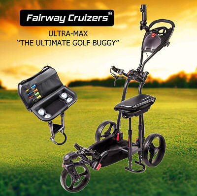 GOLF BUGGY 3 WHEEL ULTRA-MAX C/W Seat, Suspension, Swivel Front Wheel and more!