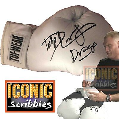 Dolph Lundgren signed boxing glove - White TUF-WEAR, Rocky, Creed