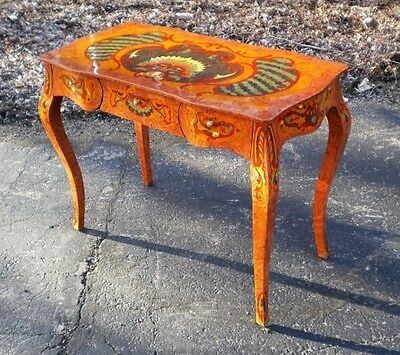 Very elegant great marquetry lady's desk rococo style