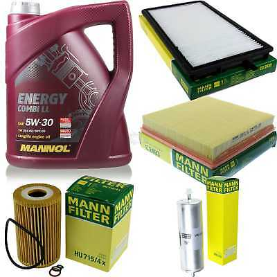 Packet Inspection 5 L Mannol Energy combill 5W30 Engine Oil + Man Filter Set