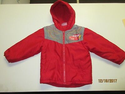 Disney Cars Winter Coat Jacket Lightning McQueen 95 5T Boys Girls Kids Toddler