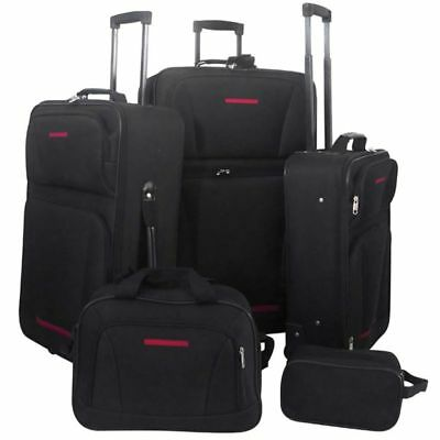5Pc Family Holiday Business Travel Clothing Luggage Storage Bag Trolley Suitcase