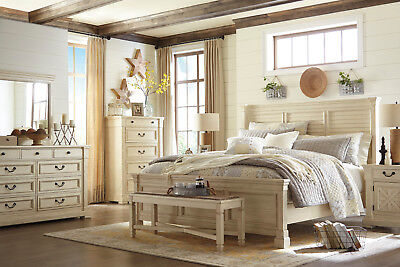 ASHLEY BEDROOM FURNITURE Bolanburg B647 Queen 4 Piece Bedroom Set