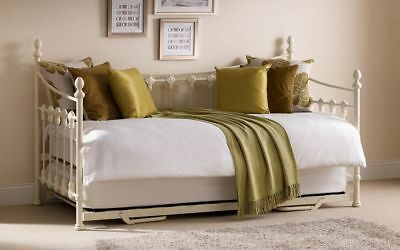 Julian Bowen Versailles Daybed & Underbed Trundle - Stunning Stone White Bed