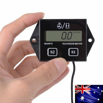 New Tach Hour Meter for Marine Motorcycle Dirt Ski Gas Engine Spark Plugs Meter