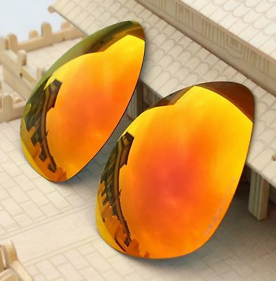 4010a60643 ACOMPATIBLE Lenses Replacement Polarized for-Oakley Plaintiff OO4057 Red  Mirror