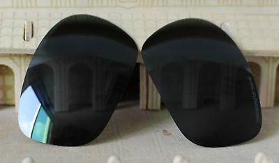 c188984627c ACOMPATIBLE Polarized Replacement Lenses for-Oakley Racing Jacket Stealth  Black