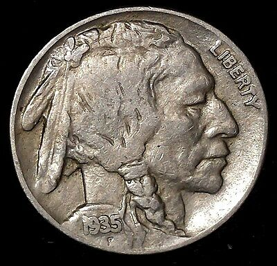"1935-P 5C Buffalo Nickel, rw  ""Only 50 Cents for Shipping""*a"