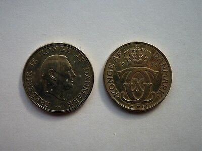 Denmark 1939 and 1952 2 Kroner (Both at or near UNC)