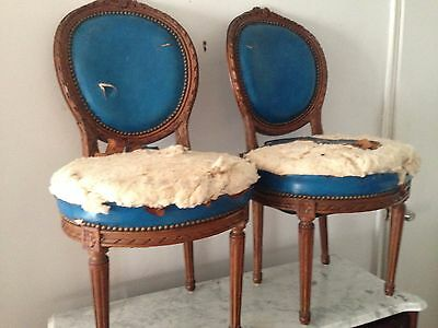 A pair of wood 18th century chairs