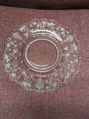 Cambridge ROSE POINT Rosepoint #3900 Salad / Luncheon Plate Plates 8 Inch