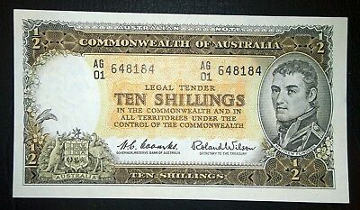 1961 Australia Coombs/Wilson 10/-  Ten Shillings banknote - refer to comments