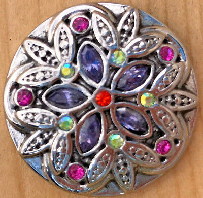 ./%Snap Chunk Button Multicolored Sets Charm For Ginger Snap Style Jewelry