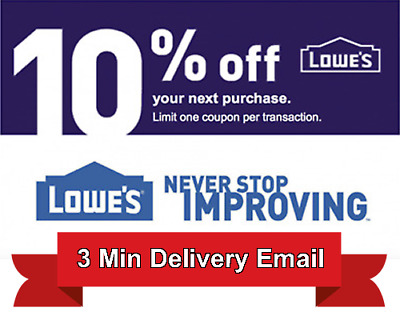 1x Lowes 10% OFF Discount Code - Online Only - Expires 1/28/2018