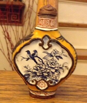 Rare and Unique Antique Chinese Enamel Painted Chinese Snuff Bottle