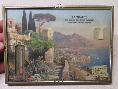 1947 Landau's Furniture Wilkes-Barre PA Advertising Picture with Calendar